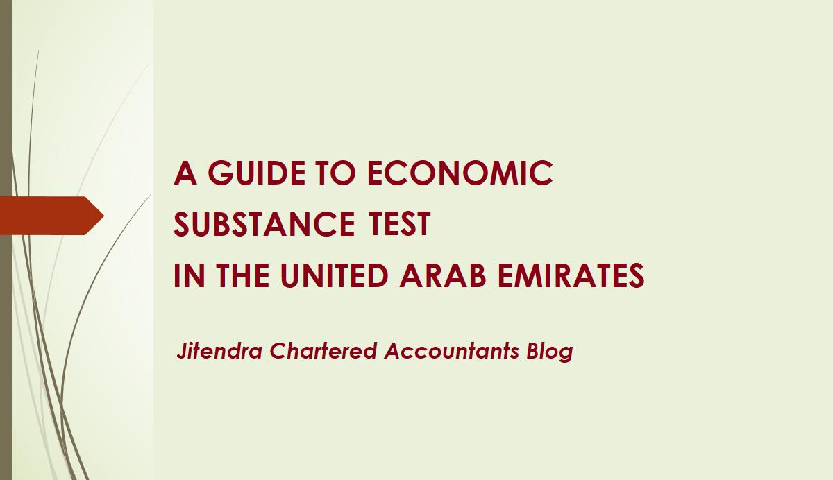 UAE Economic Substance Test | UAE Economic Substance Guidance