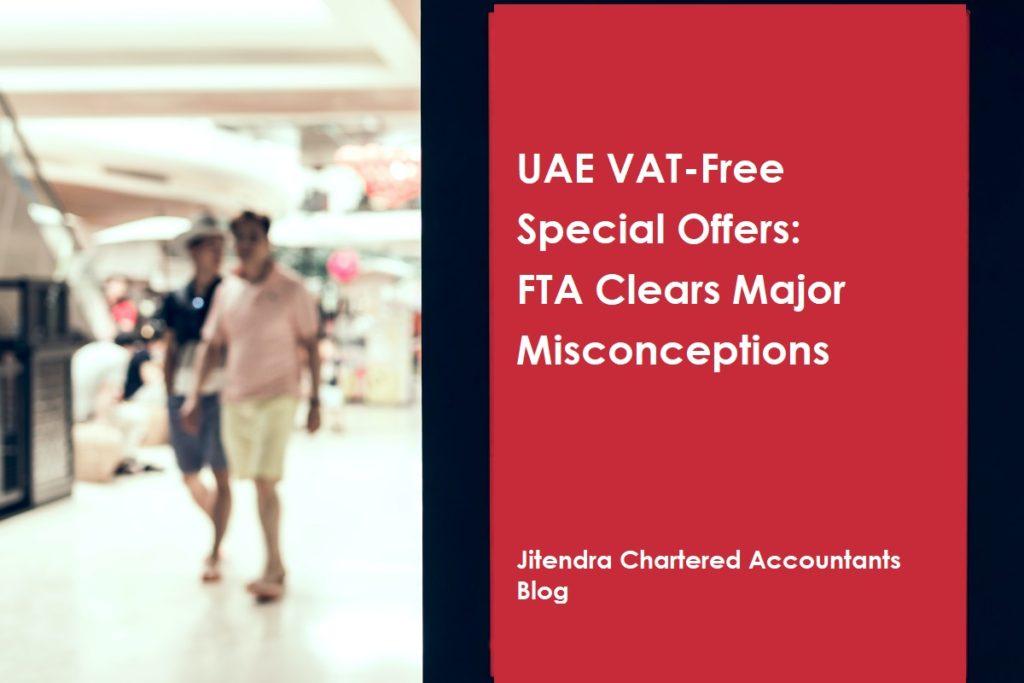 UAE vat free special offer