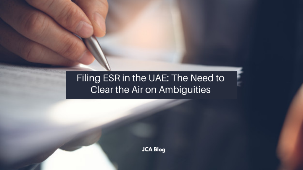 Filing ESR in the UAE_ The Need to Clear the Air on Ambiguities