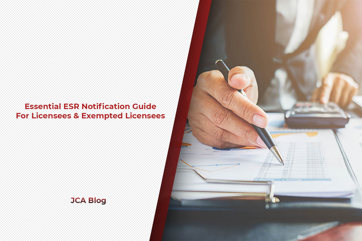 Essential ESR Notification Guide For Licensees & Exempted Licensees